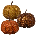 Sequin Pumpkin Accents